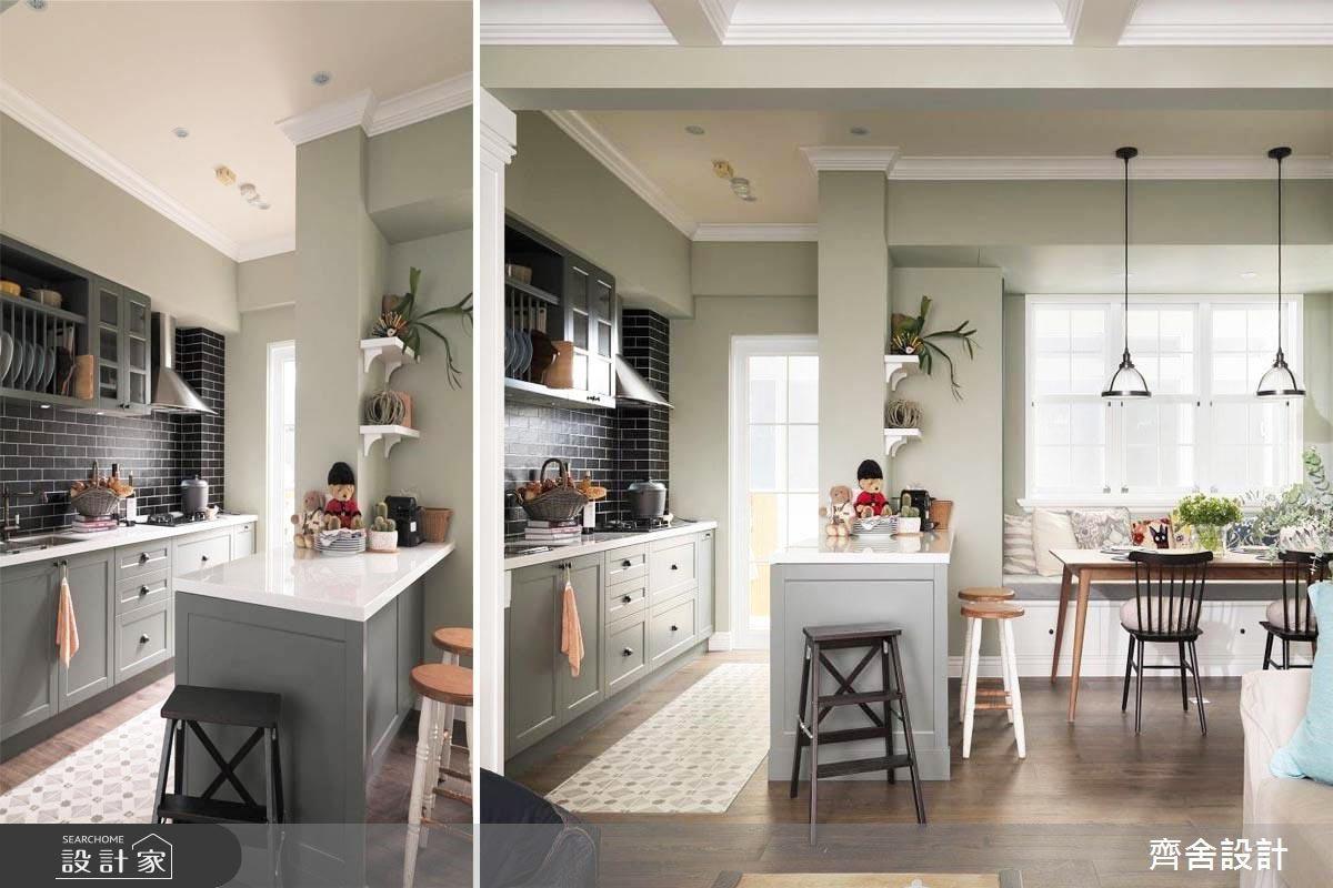 點選看更多花磚廚房案例圖片>>