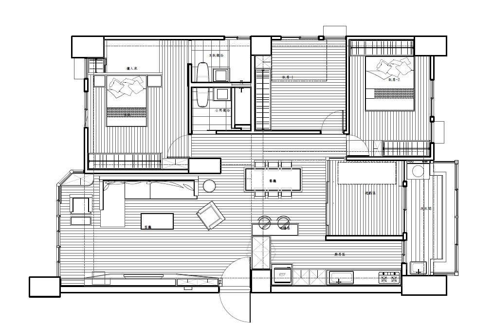 平面圖提供_震騰室內裝修設計。