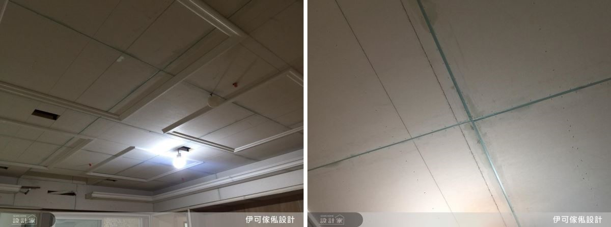 以簡單大方的線板造型為天花板注入美式風格,並運用填縫劑細心的填入矽酸鈣板,避免熱漲冷縮導致破裂。