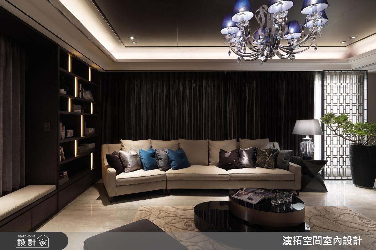 中式語彙屏風設計,豐富窗邊景致。