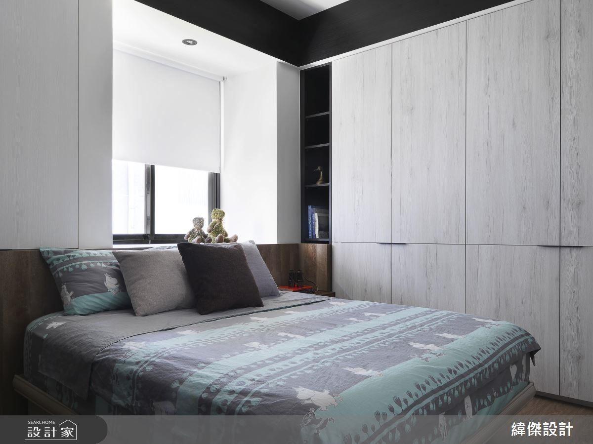 注重親子關係的一家人,設計師將大部分空間留給公領域,而臥房則是利用窗檯放大空間並且增加生活機能。