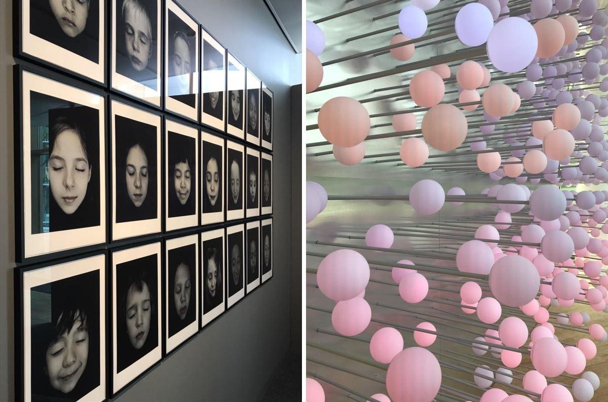 總部一樓的空間裡,以藝術裝置與人的臉部變化,傳遞美學思維。