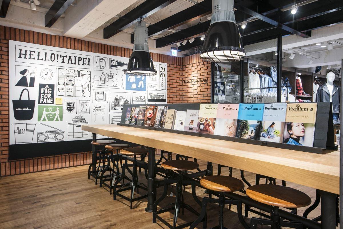未來期許能與台灣的藝術家合作,定期更換牆面上的裝置藝術,為空間不斷變換氣氛。