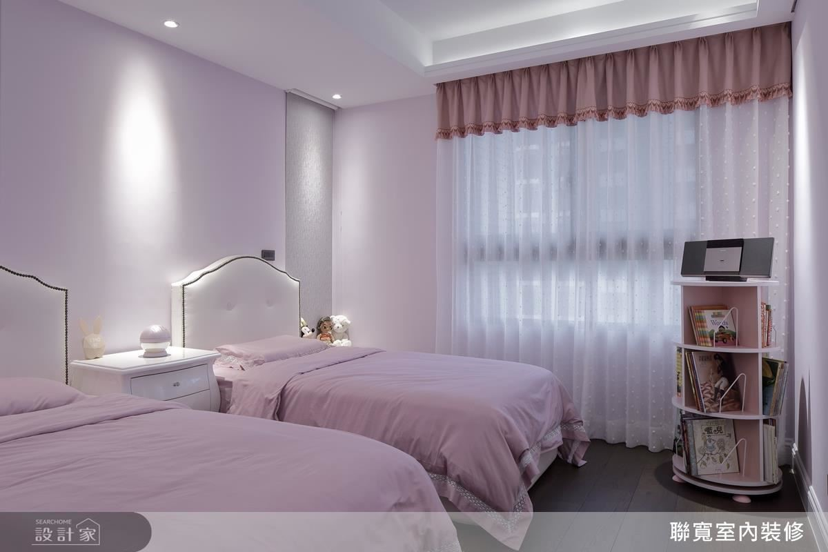 粉嫩浪漫的女孩房,是寶貝女兒的小天地。