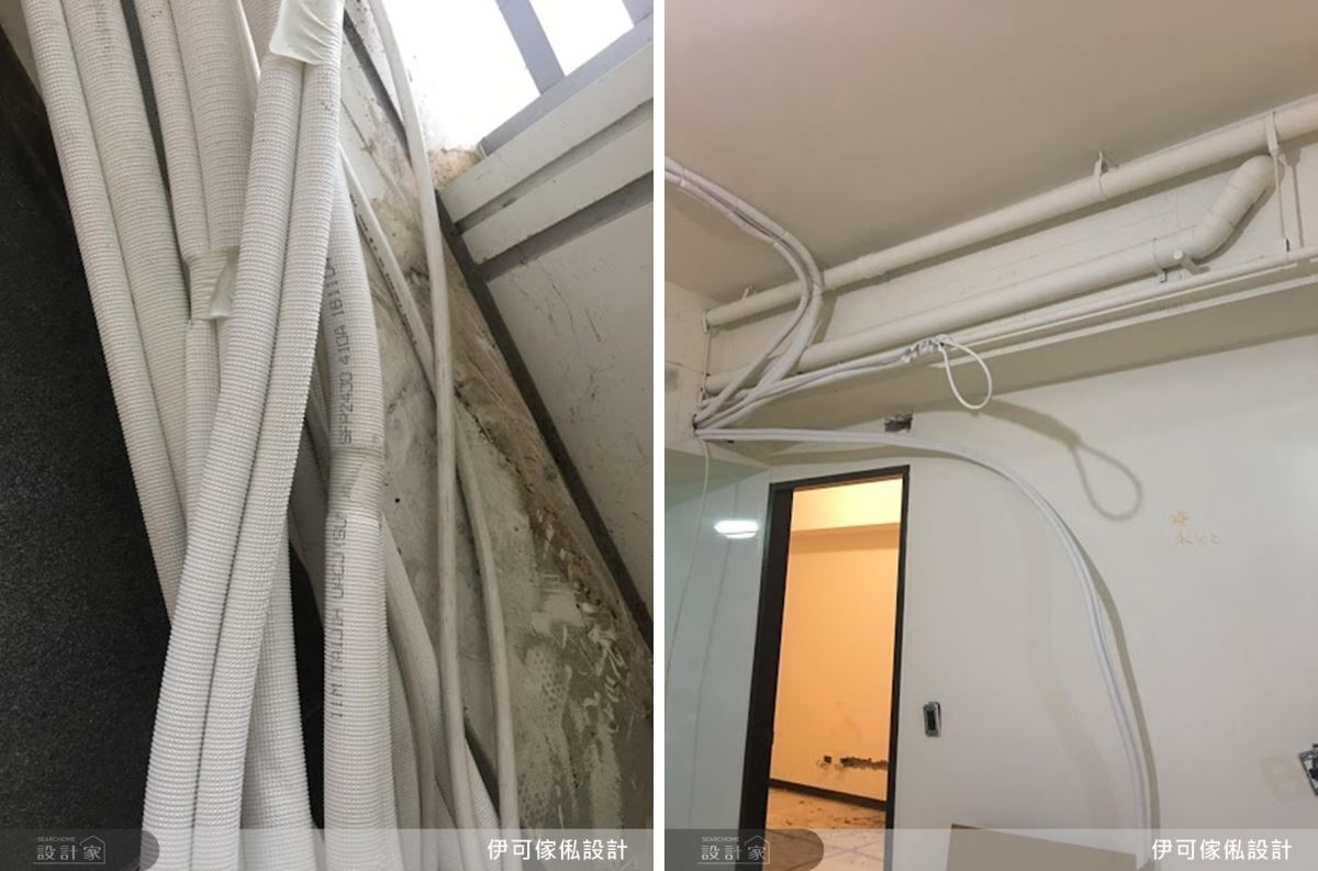 冷媒管必須經由設計師的完善規劃,順利延伸至家中各處。
