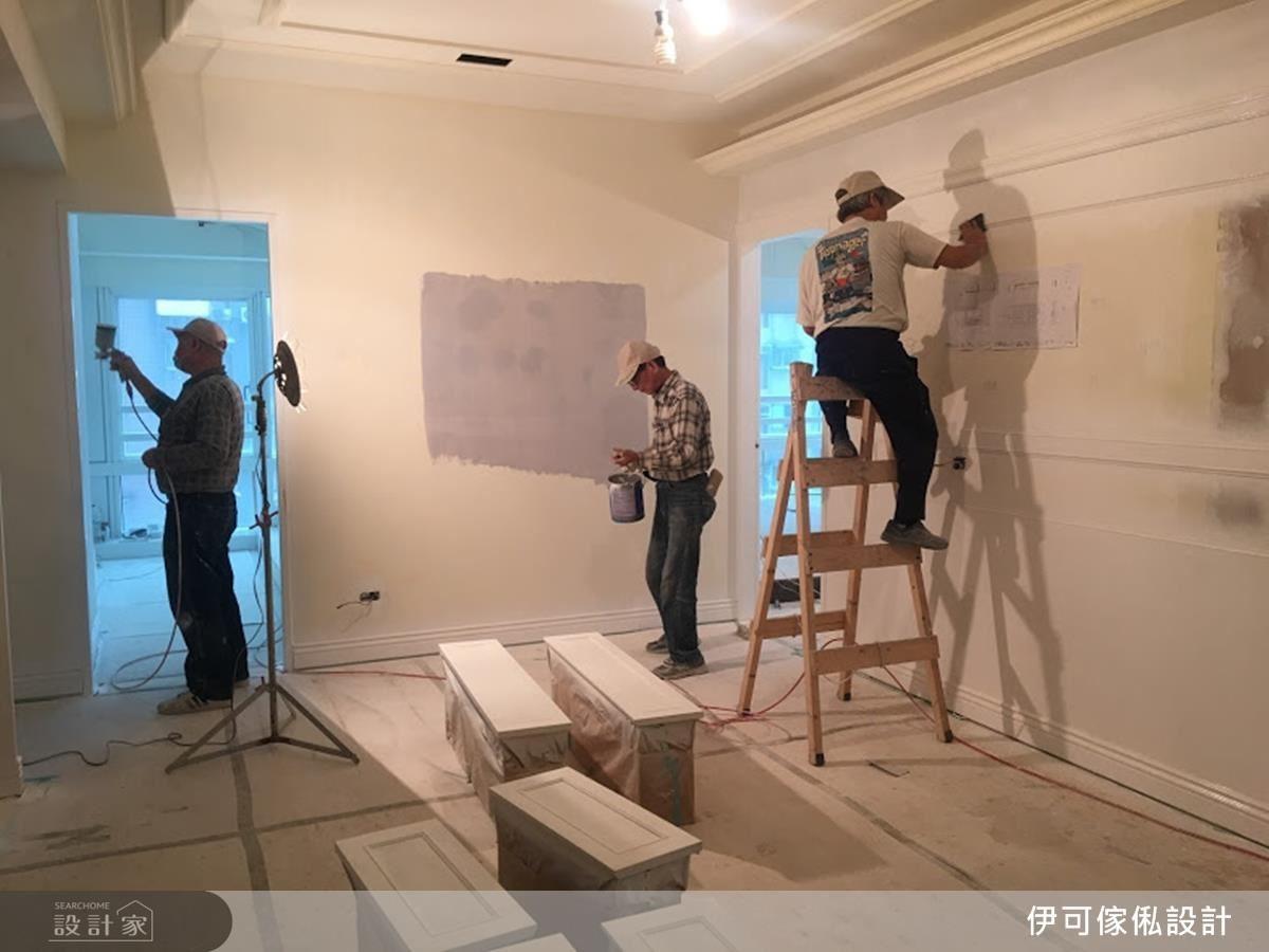 在確認內外防水沒有問題後,利用噴漆、油漆的方式,修飾原先的牆面。