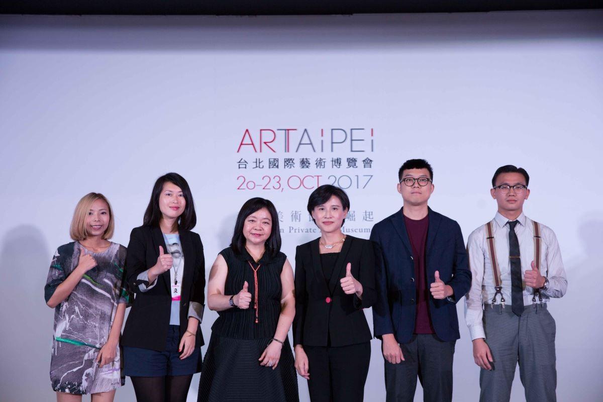 開幕記者會上對於MIT新人推薦特區的支持,MIT新人由左至右:吳家昀、劉芸怡、蘇煌盛、張般源。
