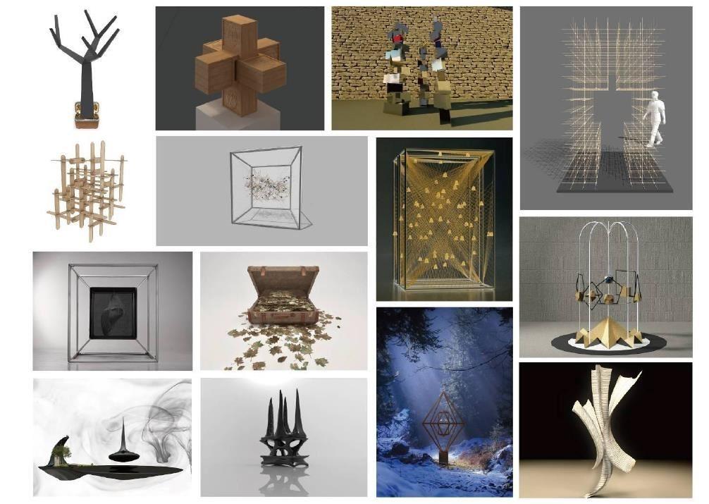 """展覽內容之一:「心設」行•旅-冥想-裝置藝術作品展,展出來自""""心+設計學社""""的裝置作品。"""