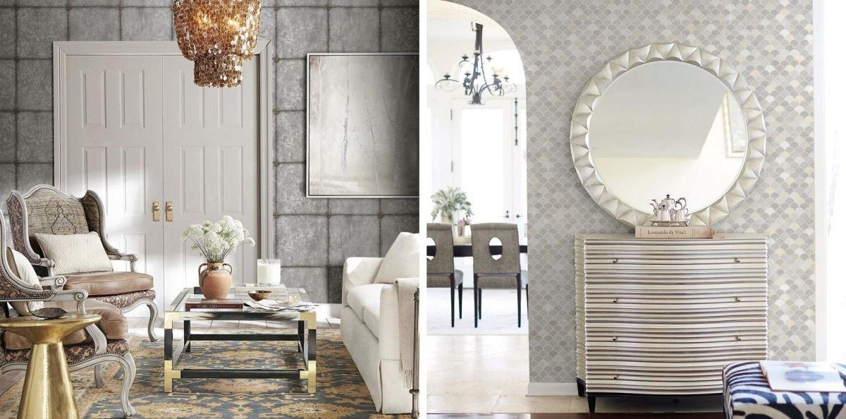工業風居家也可以採用清水模壁紙;另外,大面積連續圖案可以成功營造空間延伸感,包含門窗、書牆壁紙,成為加強風格、效果的有力工具。(圖片提供_寶筑建材)