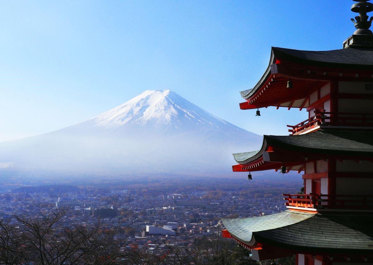 富士吉田望過去的富士山。