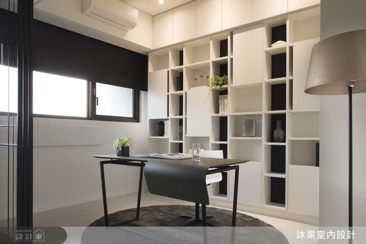 精準比例線條分割,創造簡約俐落書房空間。
