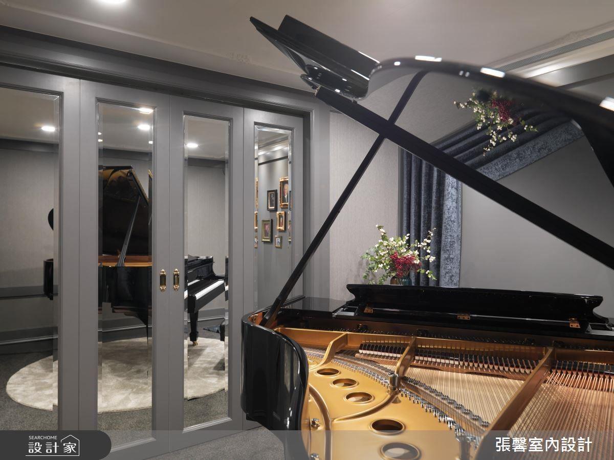 劇院般的琴房讓喜歡挑戰高難度曲子的屋主,享受一場場精彩的個人演奏會。