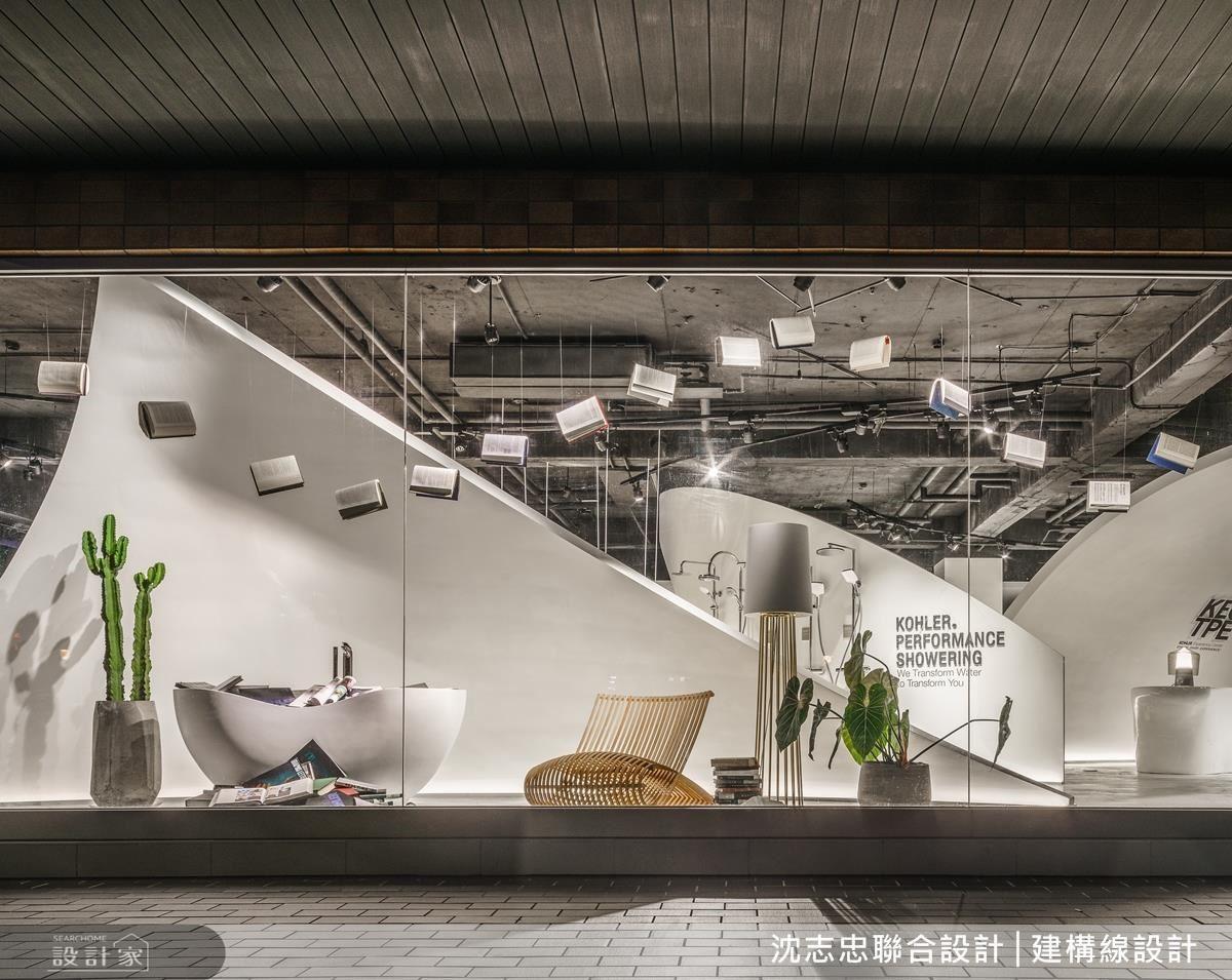 以美術館為主題打造全台首間知名衛浴品牌旗艦店。
