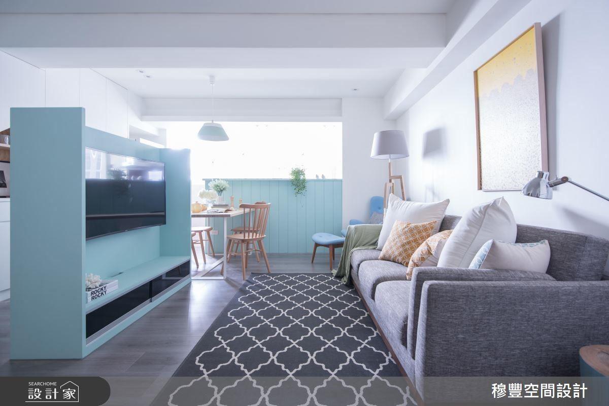 透過格局重整、色彩調配,為老屋引入清爽舒適的北歐風情。