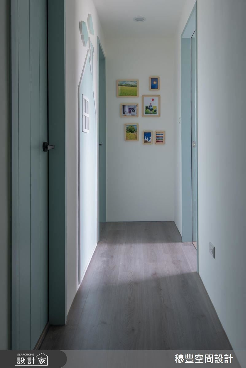 趣味塗鴉牆廊道設計,成為孩子們的專屬祕密基地。
