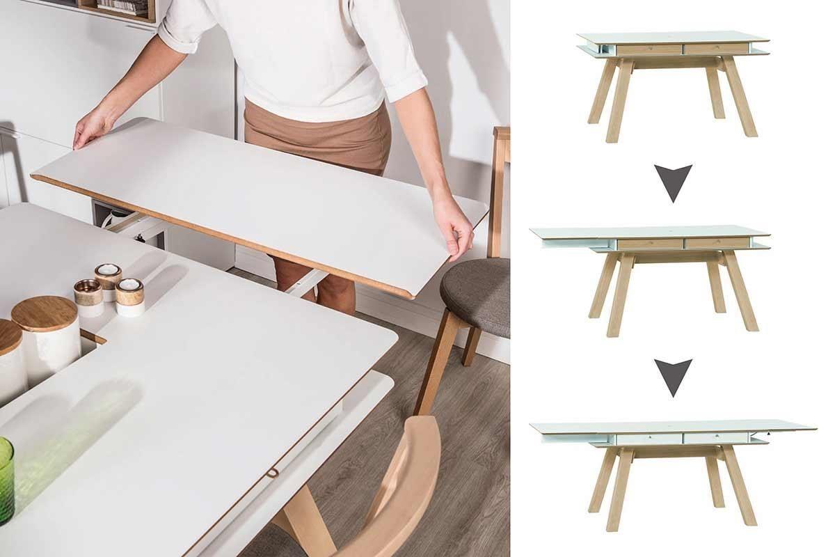 4 YOU 這款多功能延展收納桌桌板,平時收納於桌面下方,輕巧不佔空間,連女生都能輕易拆卸操作。
