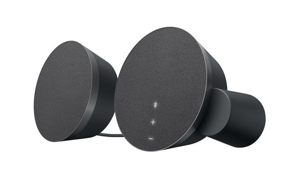 MX Sound 優質藍牙音箱能自動偵測環境與動作反應,只要輕觸音箱,背光控制鈕立即浮現