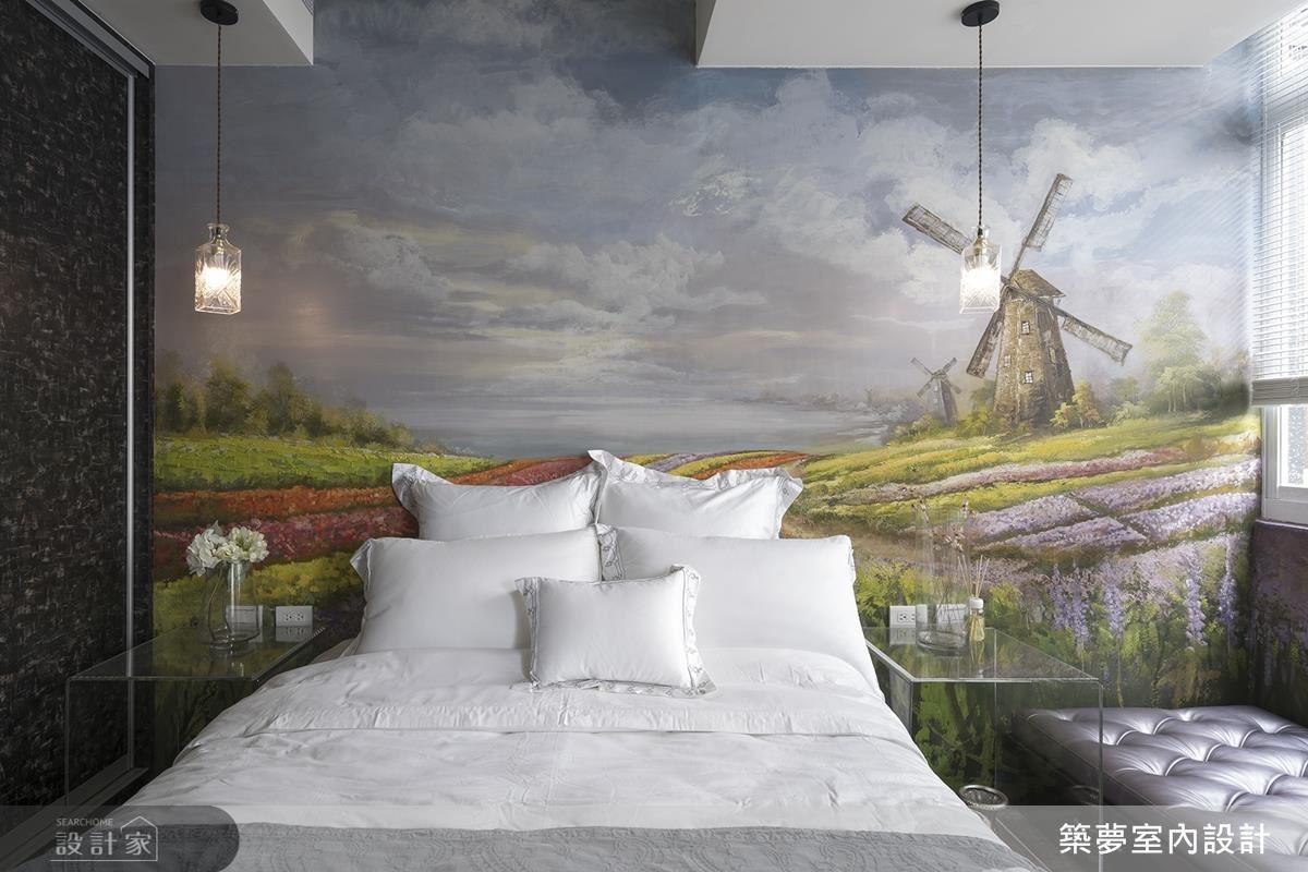 絢爛五月荷蘭花海主題房,以繽紛花叢道出屋主璀璨年華。