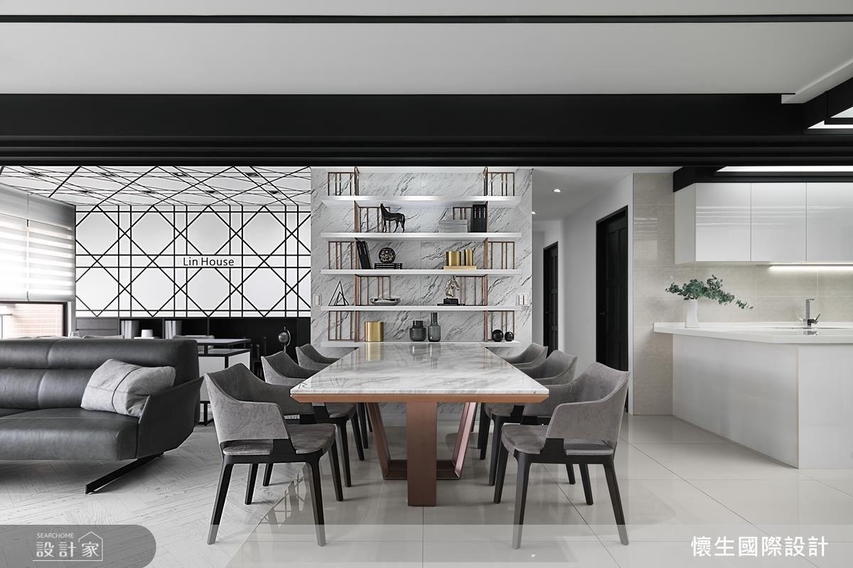 高雅質感家具擺設,柔和空間調性,引入優雅內斂氛圍。