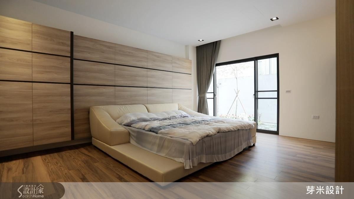 一樓長親房以大量木質元素,醞釀簡約質樸空間感。