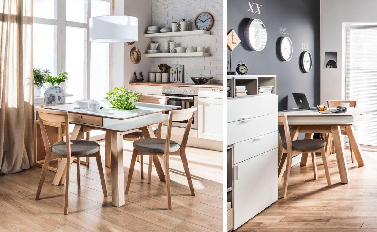 具備抽屜、線槽貼心設計的4 YOU 系列小餐桌,亦可轉換為辦公時的工作桌使用。
