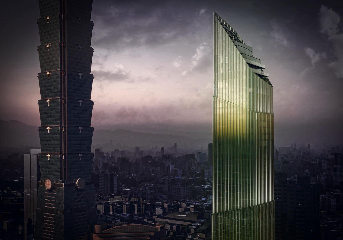 兩個飯店同時存在一個細長的摩天大樓裡,Antonio Citterio希望帶來所有年齡層都喜歡的建築與空間。(圖片提供:碩河開發)