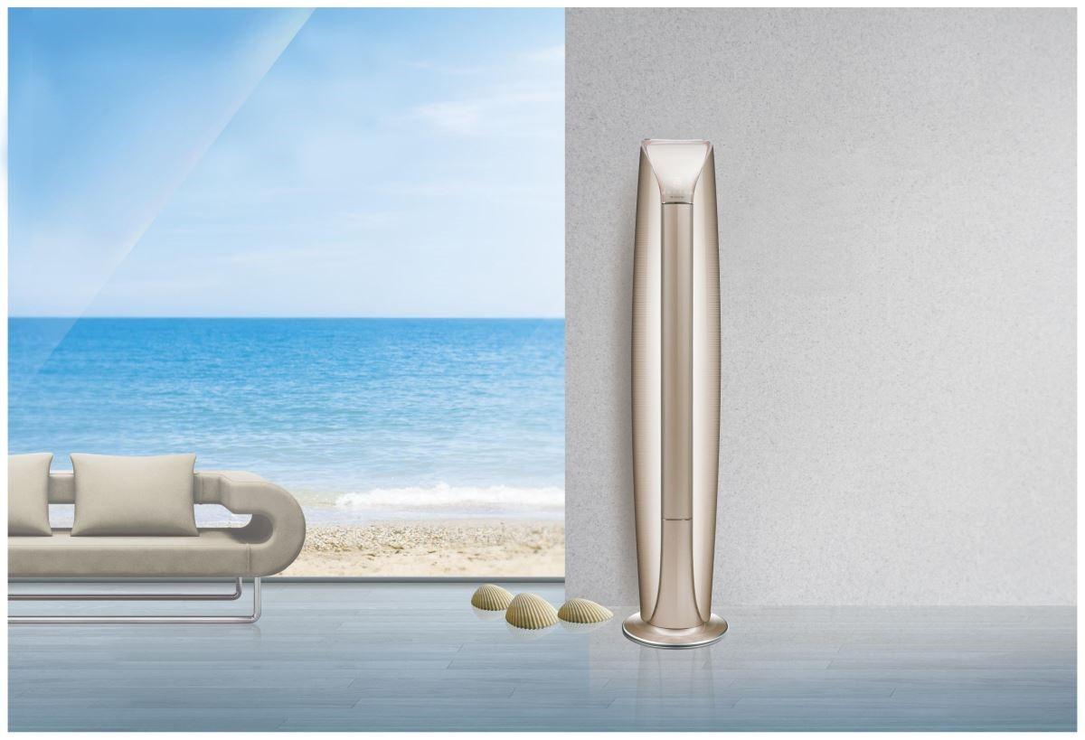 格力電器推出的櫃機空調系列的出風較為平均,如果家中沒有地暖,又不想二次施工安裝,那就選擇一台具有設計美學的櫃機吧!