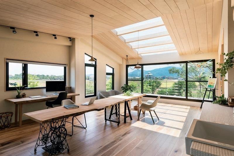 玩味材質:木與鐵的異材質搭構。圖片提供_欣琦翊室內設計