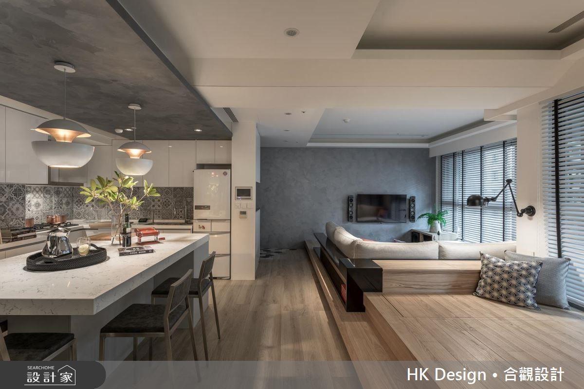 空間引用簡單大方的線條,讓居家能坐擁清爽而放大的效果。