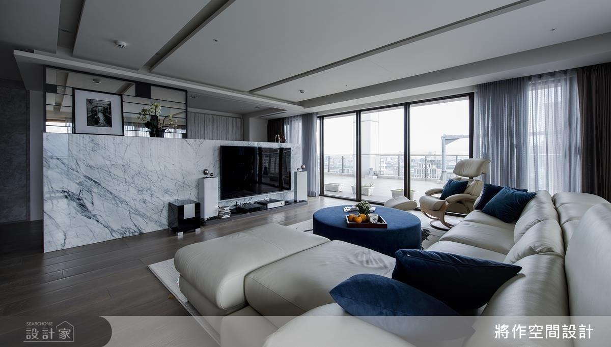 坐擁大面窗景,享受居家休閒賞景樂趣。
