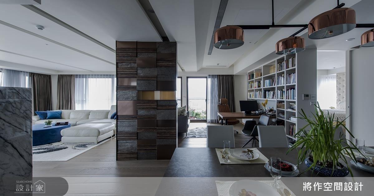 全開放式設計,讓每個角落都能關注到家人的動態。