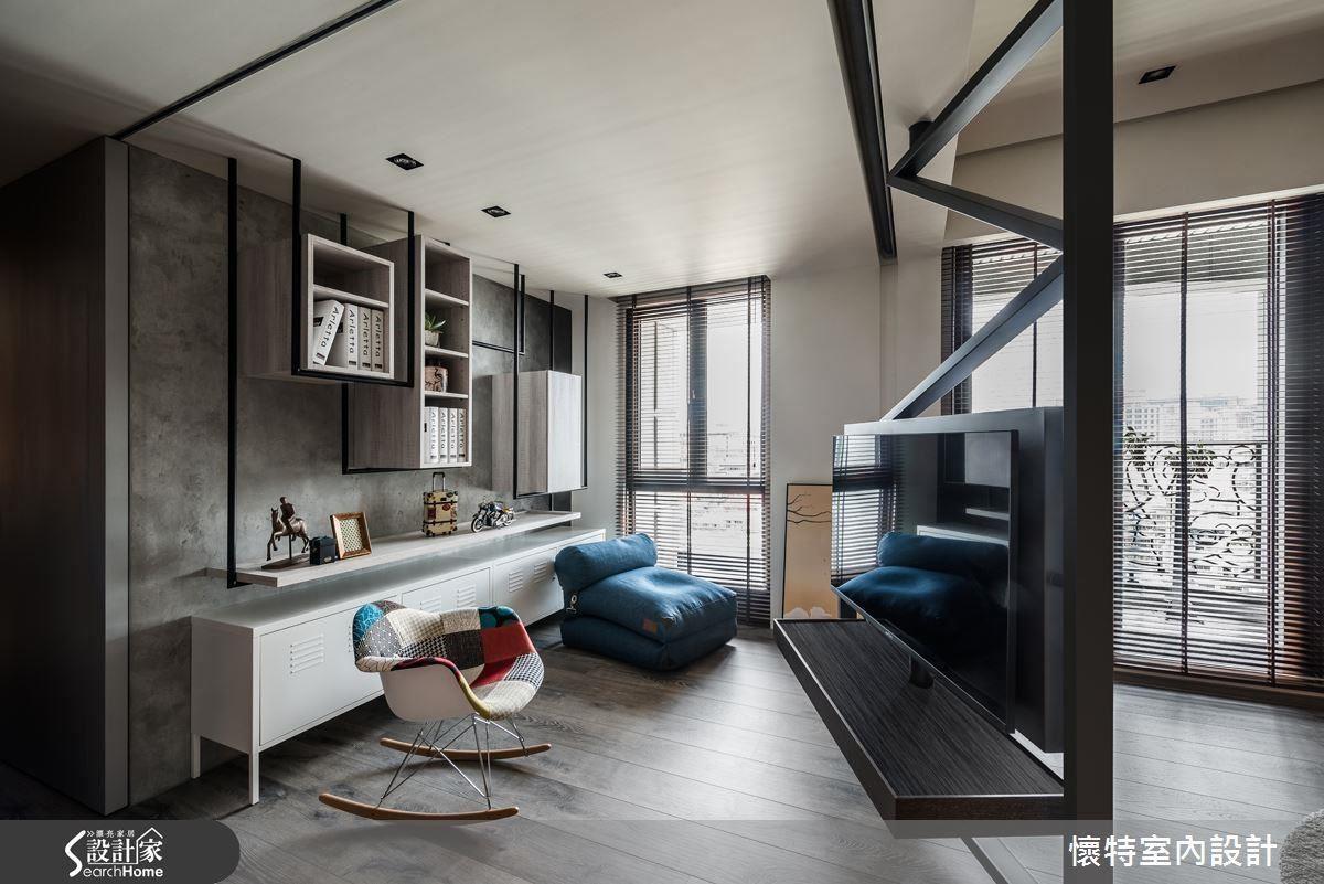 可旋轉的電視架成為空間的中心,不論在客廳或書房,只要輕輕旋轉就能盡情觀賞。