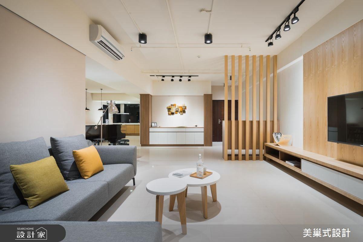 空間擷取 Loft 風格的部分元素為表現核心,再輔以簡單的材質、色彩、線條等素材,讓空間帶點個性與溫暖的味道。
