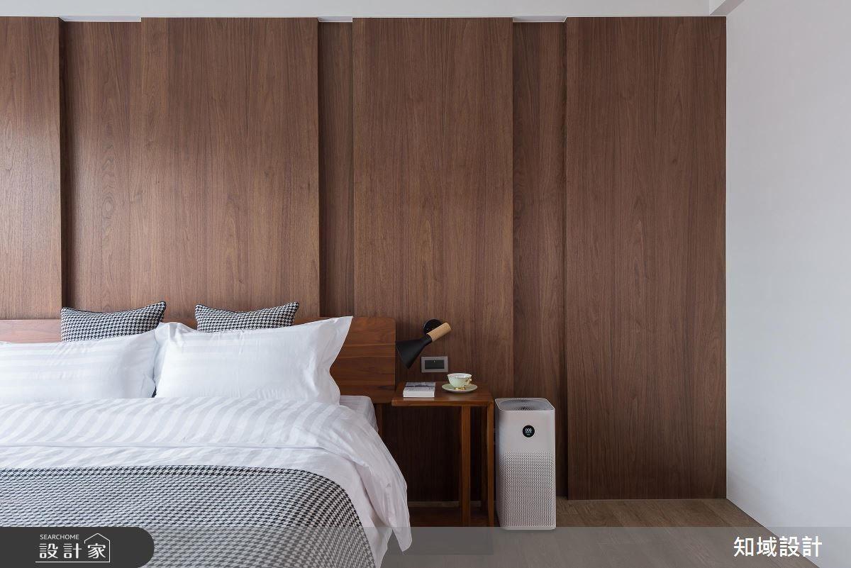 以不同色彩牆面,打造臥房主題。