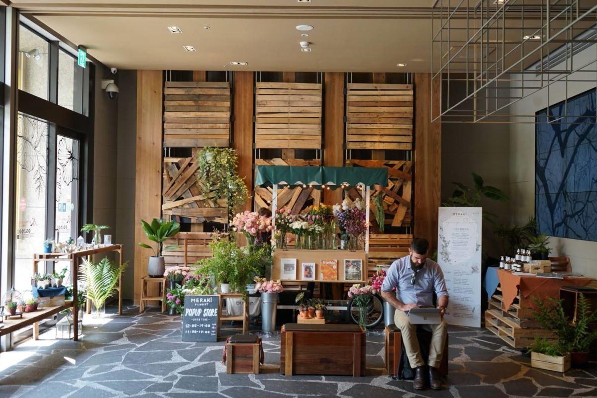 位於Home Hotel大安,一人的好感覺生活創作花店。