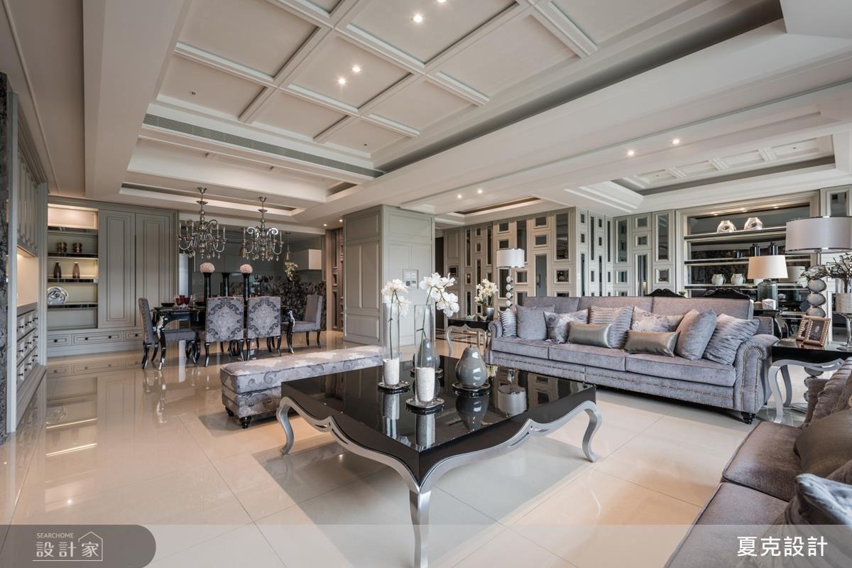 設計師運用新古典方式,為居家營造時尚又不失優雅的視覺饗宴。