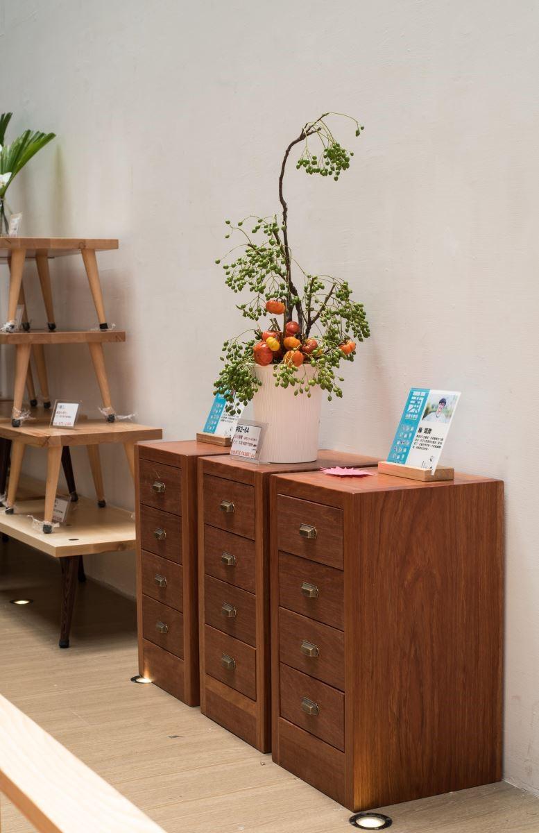 2018年玉東卡本特木工班師生聯展,展覽作品。