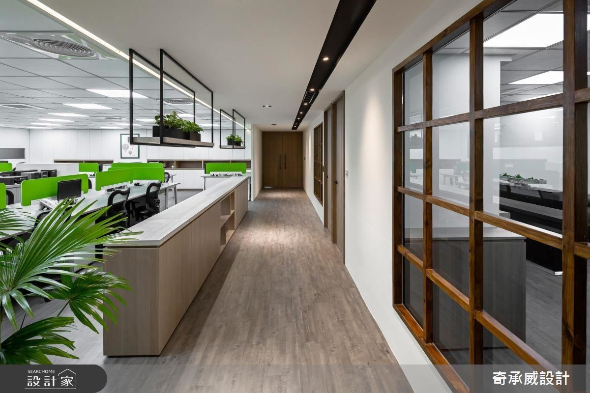 以廊道串聯各部門,創造流暢動線。