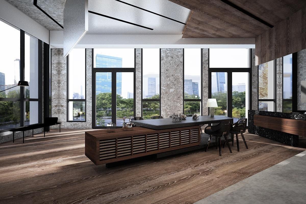伸保台中展示中心大廳,設計師-近境制作 唐忠漢。