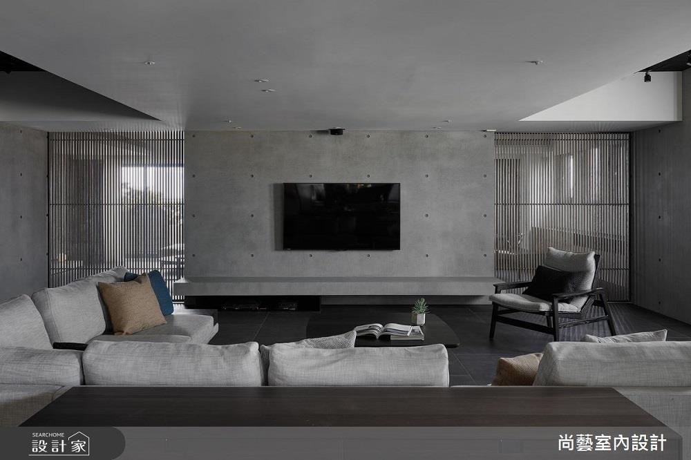 沉靜質樸的灰色空間,紓壓氛圍伴隨一股安定感。>>看完整圖庫