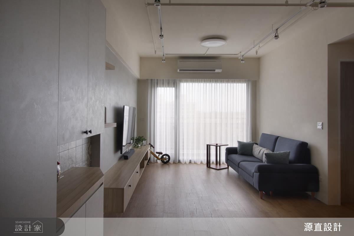 客廳以大面開窗增加採光,呈現居家的溫馨舒適感。