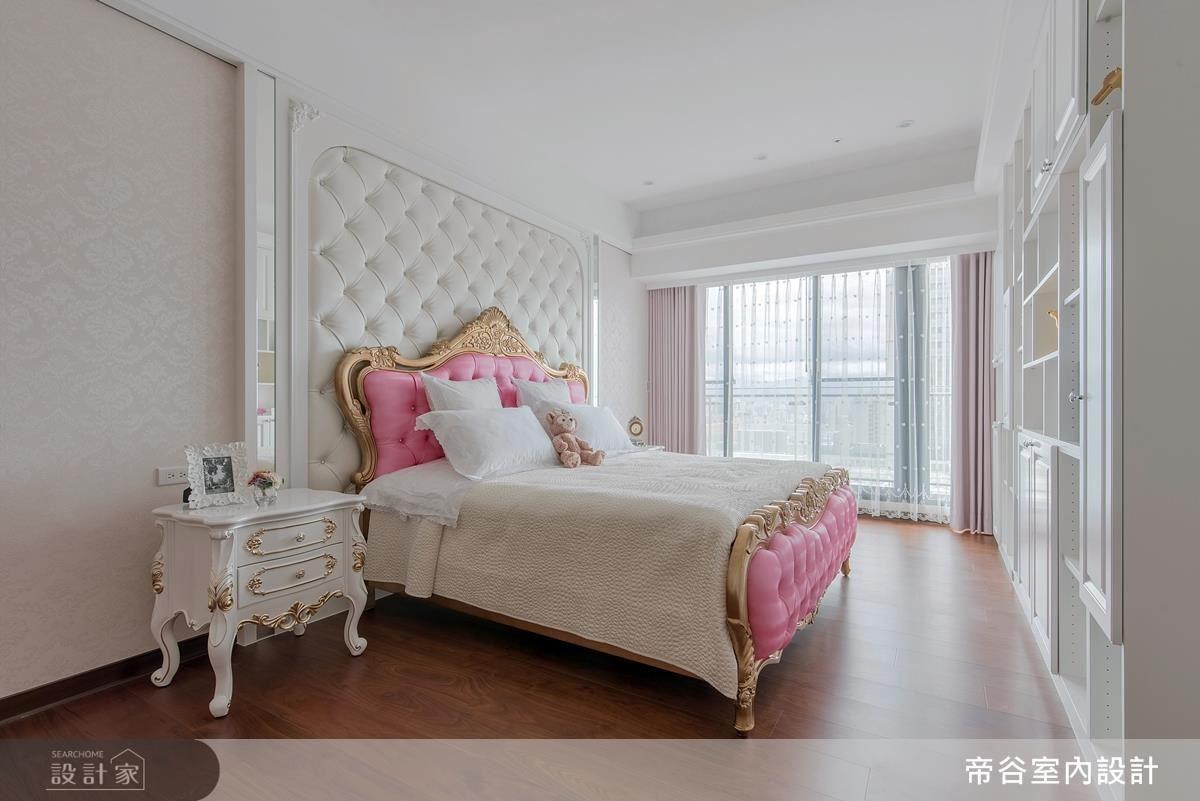 女孩房以粉色調譜畫空間,營造小公主般的質感氣息。