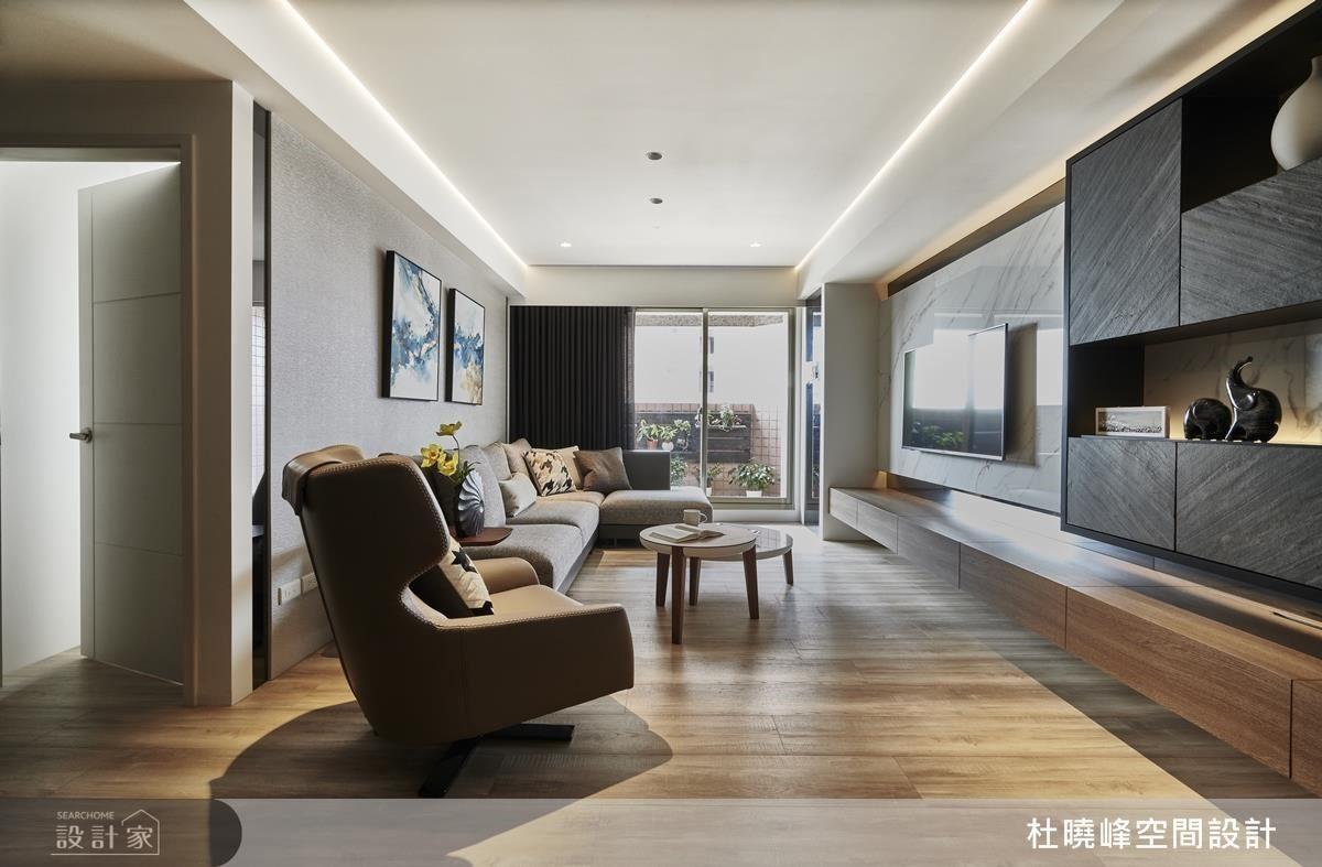 設計師透過格局的調動,使日光更能流淌於空間。