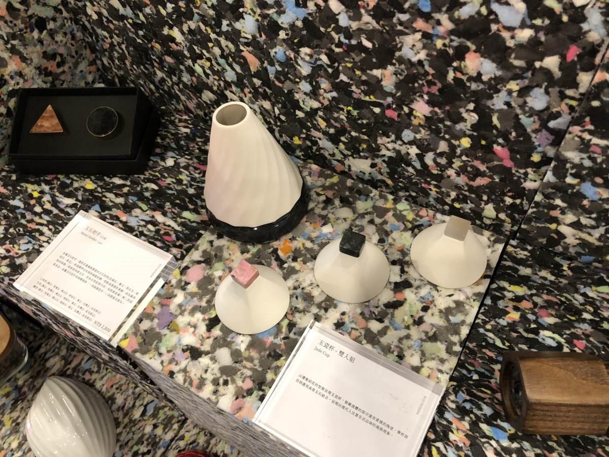 和花蓮受災石材廠合作,將廢棄的石材重新製作成美麗的實用物件。