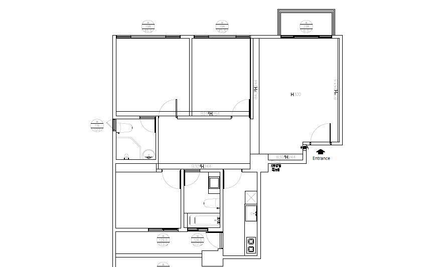 (BEFORE)平面圖提供_綺寓空間設計。