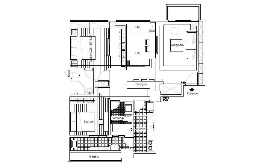 (AFTER)平面圖提供_綺寓空間設計。