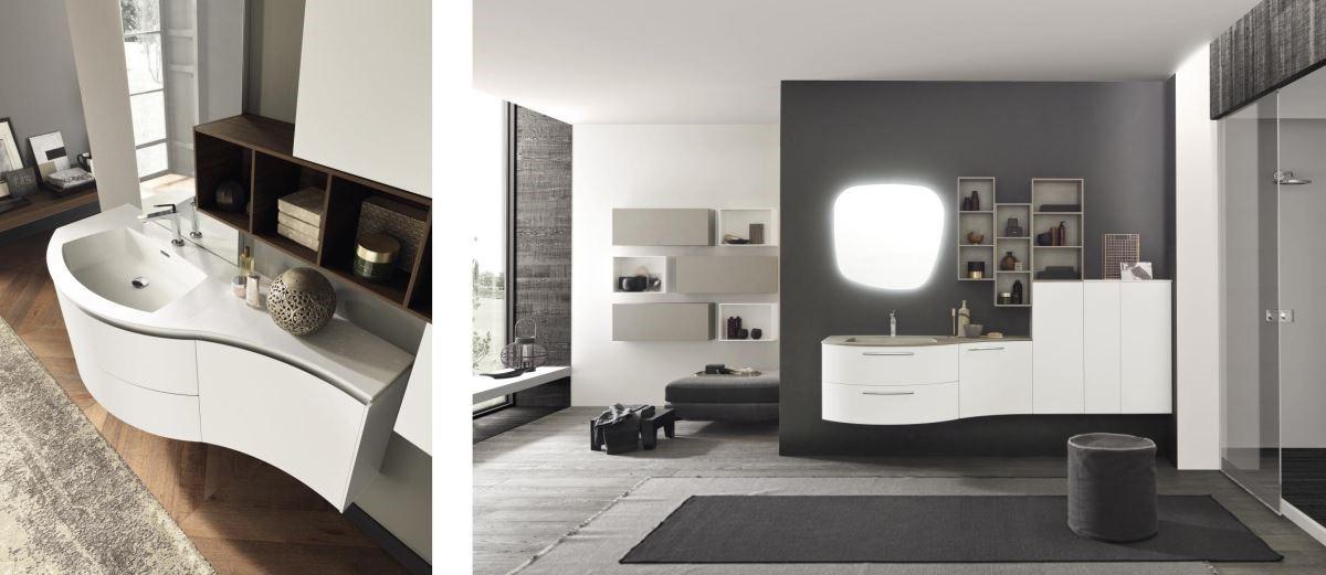 簡約的衛浴空間裡,AZZURRA LimeØ系列以純白色調櫃體,替私密的梳洗時光注入義式美學。
