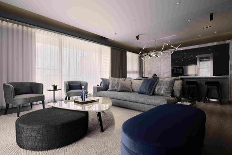 寧靜海洋意象的藍色紳士宅 L′atelier Fantasia 繽紛設計 江欣宜