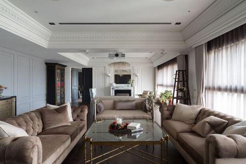 他把兩戶合併 打造百坪雙客廳美式豪宅 尚展空間設計 吳啟民