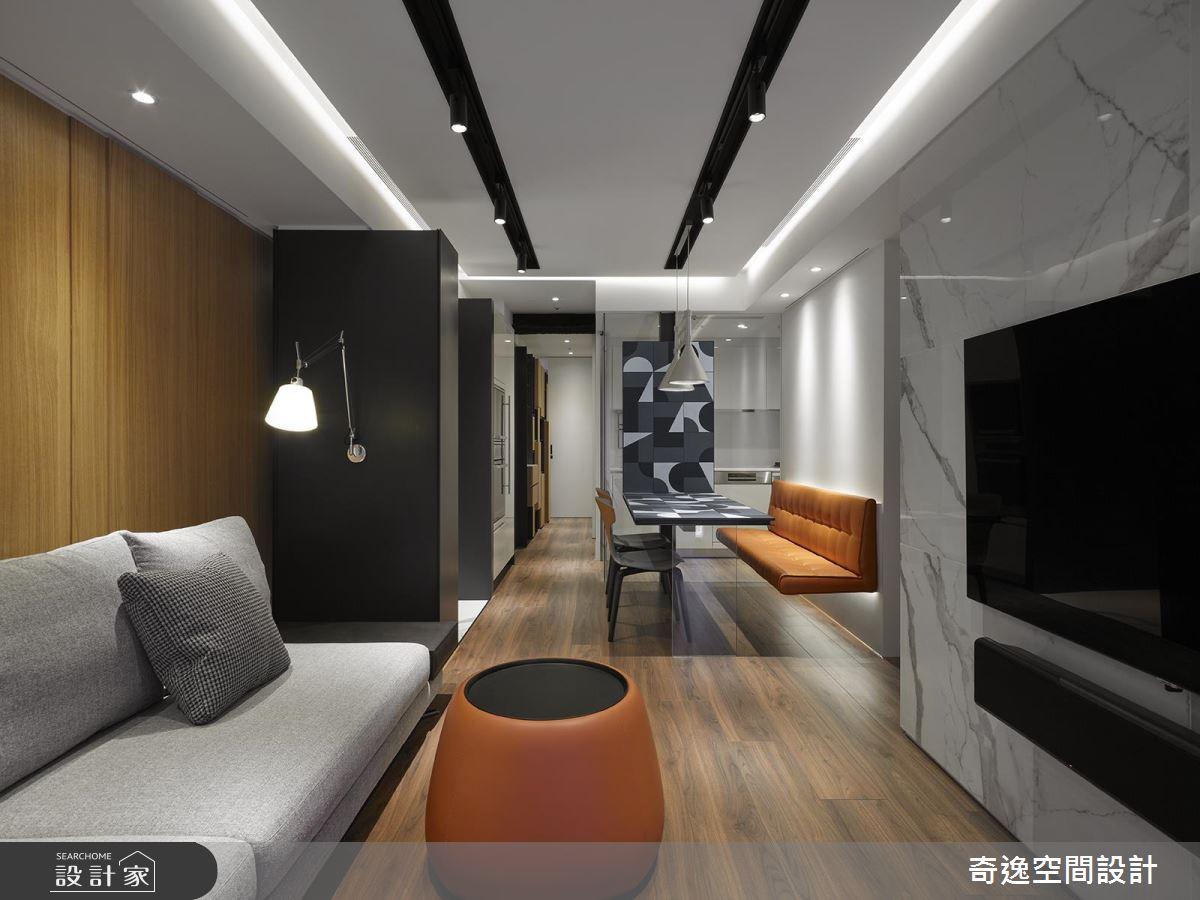長型格局這樣規劃不浪費!收納滿分的現代風時尚宅